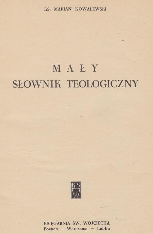 Mały Słownik Teologiczny