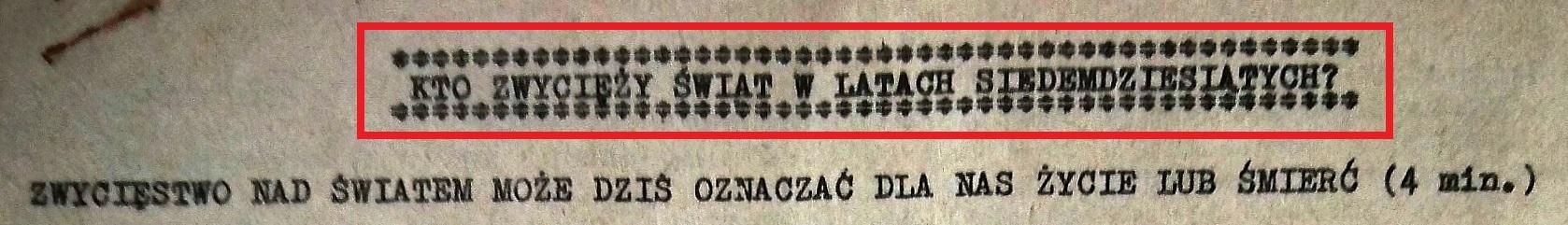Wykład o 1975 roku (1972)